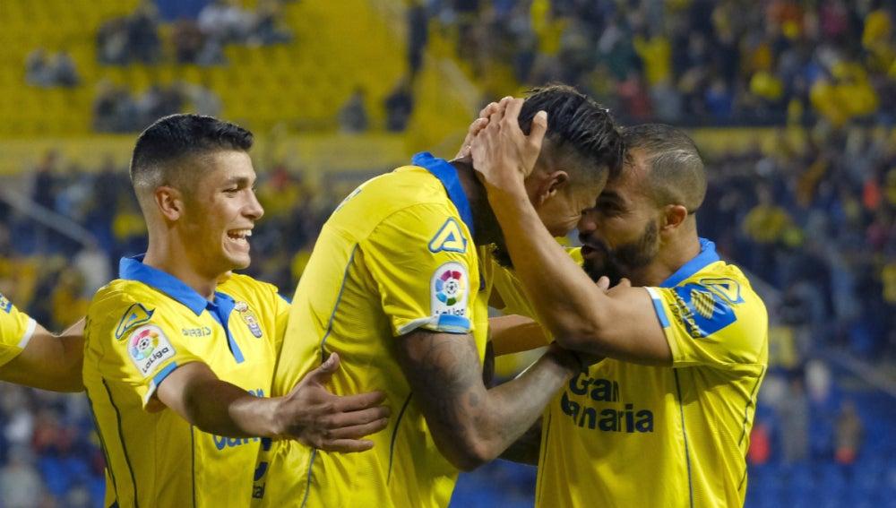 Las Palmas celebra un gol