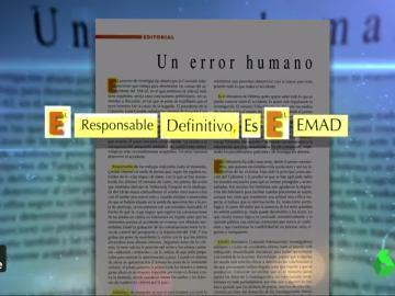 Editorial de la revista española de Defensa, fechado en agosto de 2003, tres meses después del accidente del Yak-42