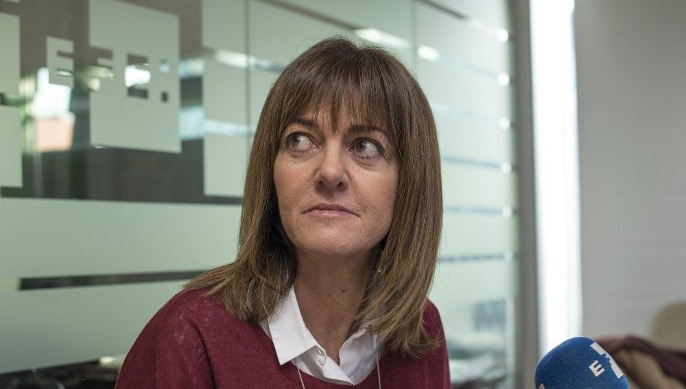 La secretaria general de los socialistas vascos, Idoia Mendia