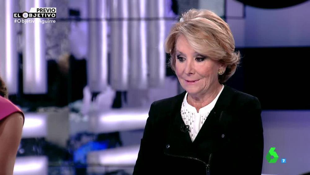 Esperanza Aguirre, portavoz del PP de Madrid, en El Objetivo