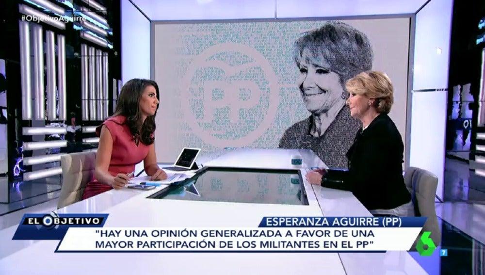 """Frame 88.984006 de: Esperanza Aguirre: """"No he tenido nunca en la cabeza fundar un nuevo partido político"""""""