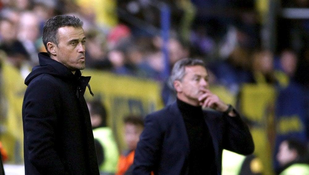 Luis Enrique durante el partido frente al Villarreal