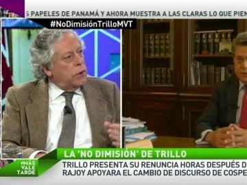 """Frame 46.751693 de: M.A Aguilar: """"En ningún sitio se va a hacer el más mínimo reproche a Trillo porque les tiene cogidos"""""""