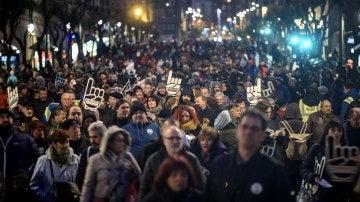 Miles de personas denuncian en Bilbao la dispersión de los presos de ETA