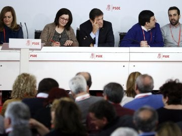 Comité Federal del PSOE, en la sede del partido