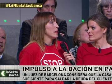 Natalia pide al banco la dación en pago