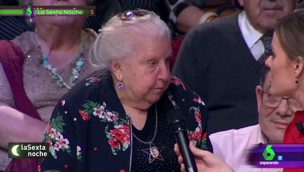 Paquita, una pensionista de 91 años, revolucionó el plató de laSexta Noche
