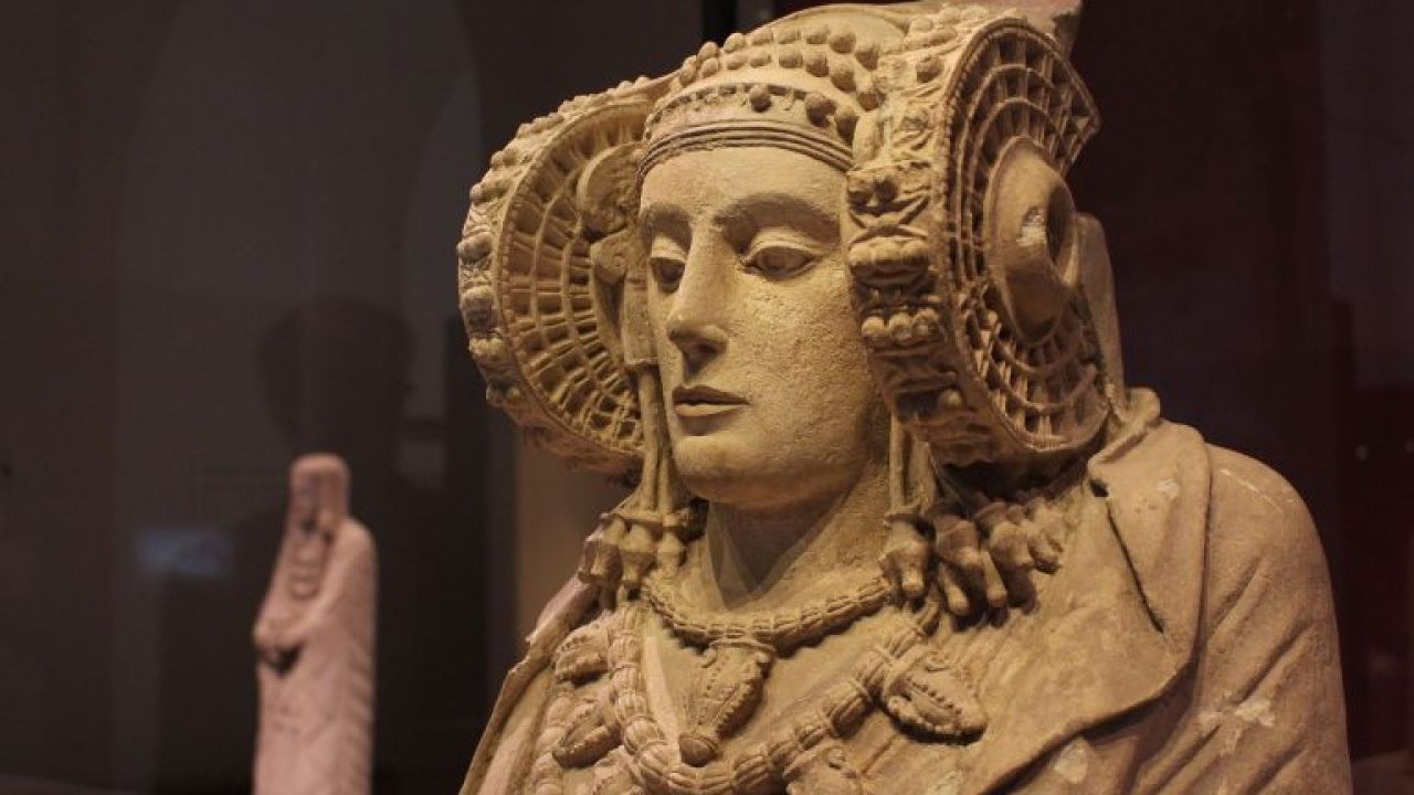La Dama de Elche en el Museo Aurqueológico Nacional.