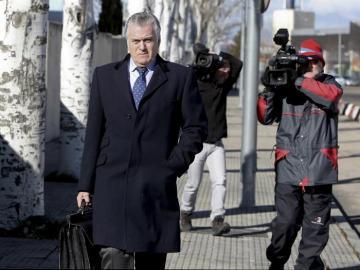 Luis Bárcenas, a su salida de la Audiencia Nacional
