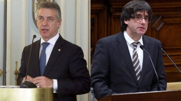 Íñigo Urkullu y Carles Puigdemont