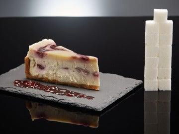 Cantidad de azúcar que contiene una tarta de queso
