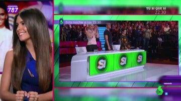 Cristina Pedroche, en Zapeando habla de Tú sí que sí