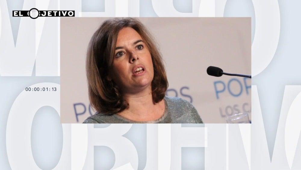 """Frame 0.0 de: Soraya Sáenz de Santamaría: """"España cumple con sus compromisos con los refugiados"""""""
