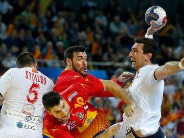 Los Hispanos en el partido frente a Macedonia