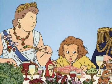 La cena con la reina, primer cuento infantil de la autora de cómic israelí Rutu Modan.