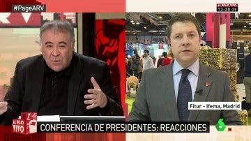 """Frame 6.748414 de: Emiliano García-Page no se moja sobre el futuro del PSOE: """"Apuesto porque el líder del PSOE aspire a liderar España"""""""