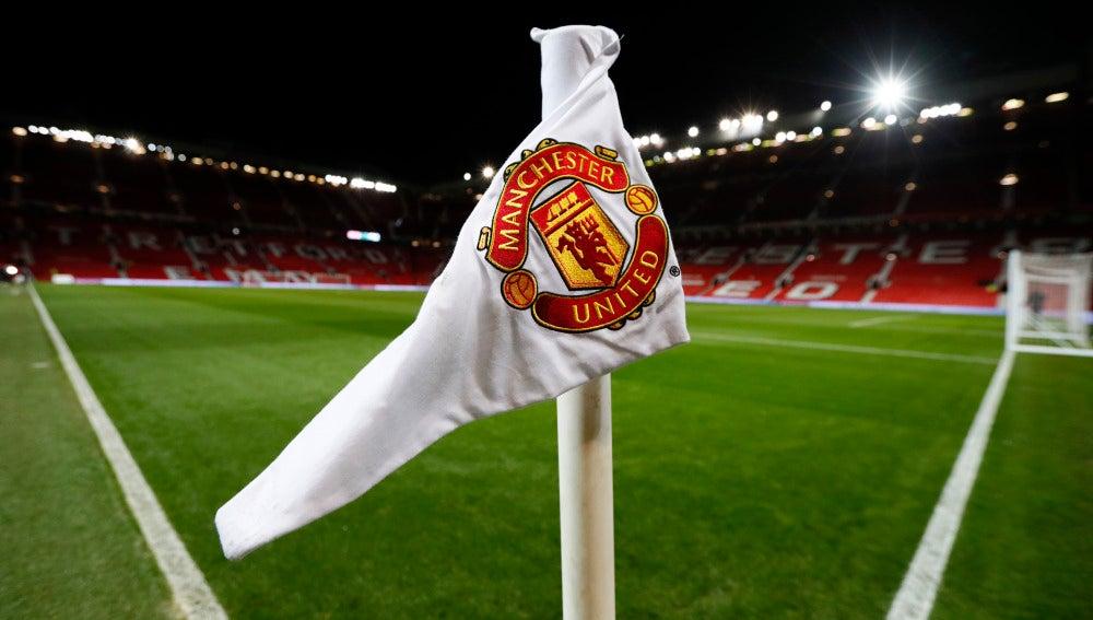 Un banderín de Old Trafford