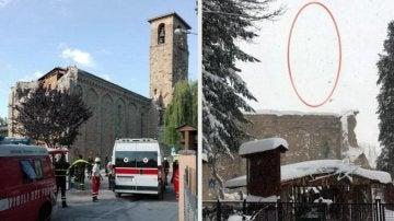 Cae el campanario de Amatrice a causa de un terremoto