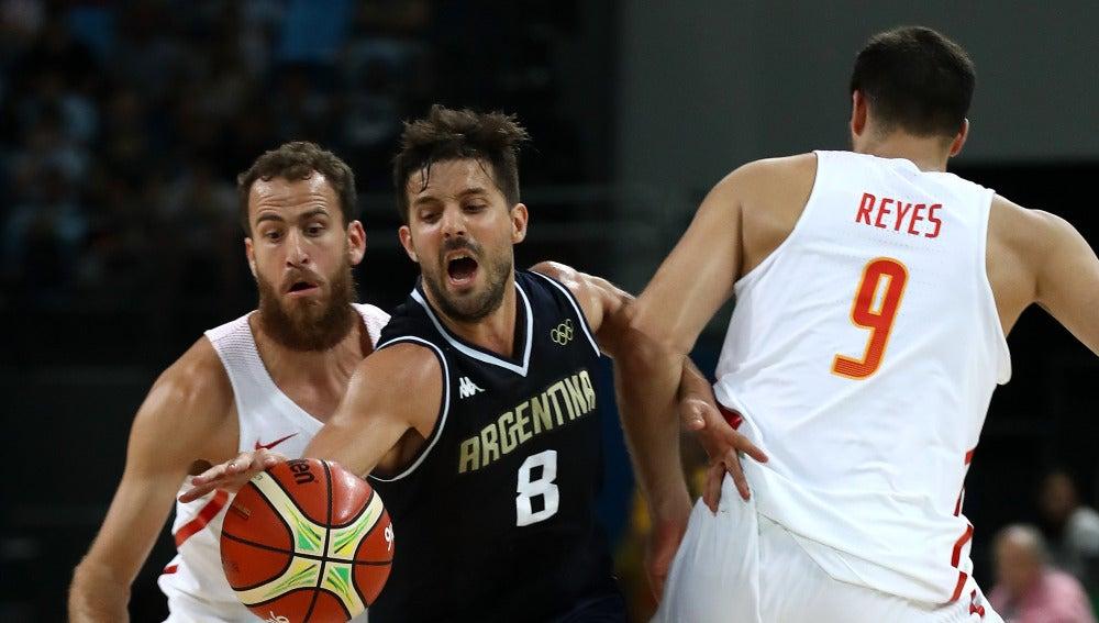 Laprovittola, en el partido contra España en los Juegos de Río
