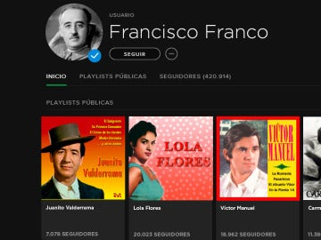 Perfil de Francisco Franco en Spotify