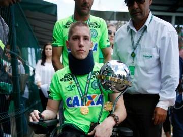 El portero Jackson Follmann, superviviente del accidente del Chapecoense