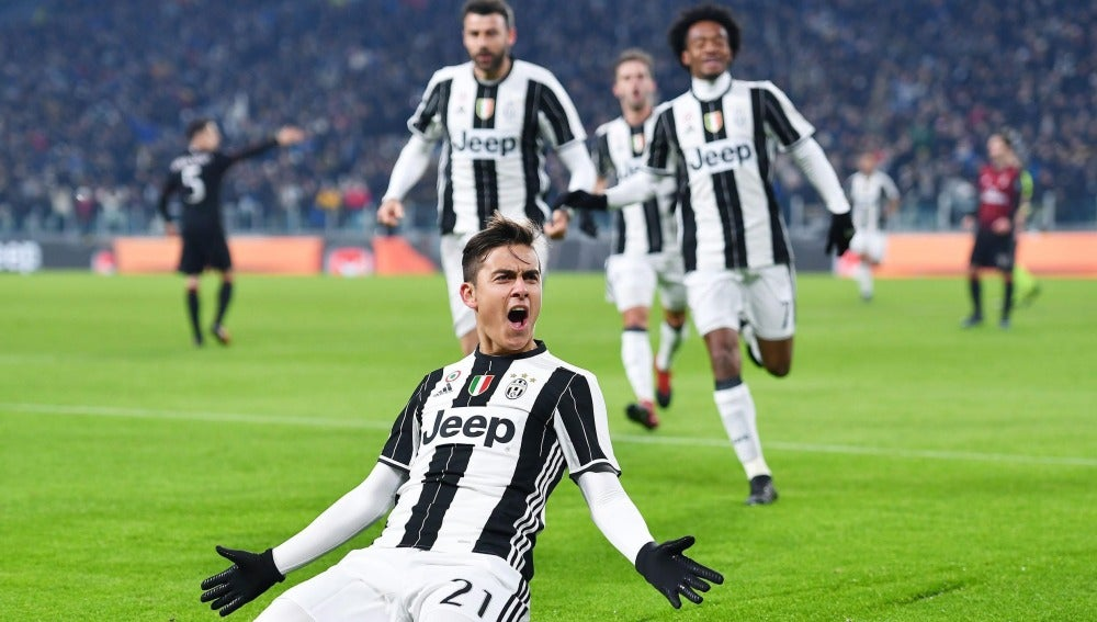 Dybala, celebrando un gol con la Juventus