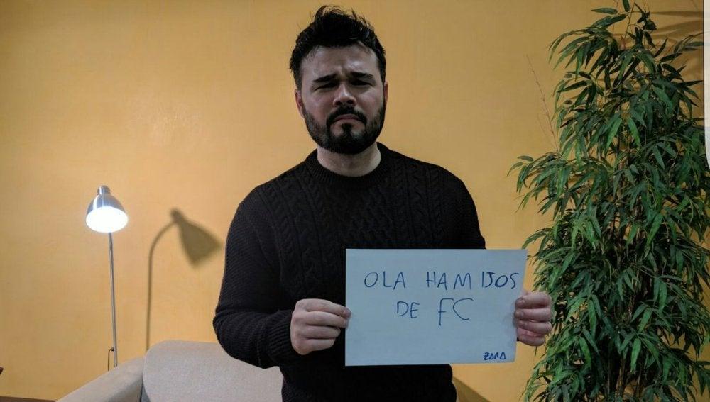 Gabriel Rufián responde a los usuarios de Forocoches