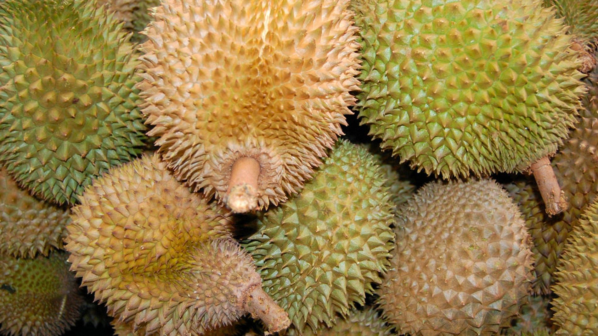 """El durio, """"el rey de las frutas"""""""