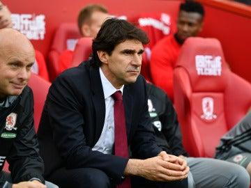 Karanka en un partido con el Middlesbrough