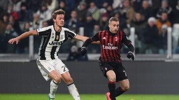 Gerard Deulofeu, en su debut con el Milan