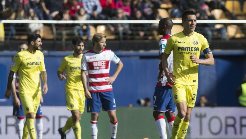 El Villarreal celebra un gol ante el Granada