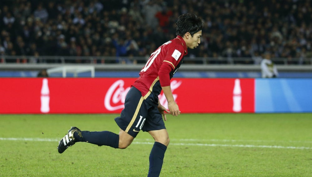Shibasaki celebra un gol contra el Real Madrid