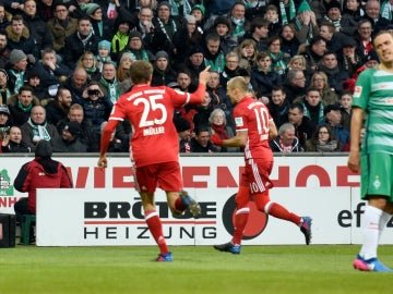 El Bayern celebra un gol ante el Werder