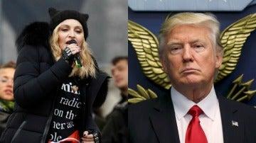 Trump responde a Madonna tras sus declaraciones en la Marcha de las Mujeres