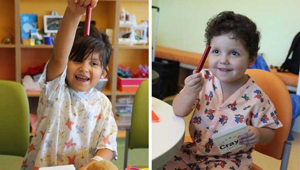 Un grupo de padres reciclan lápices para niños hospitalizados