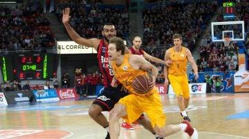 El Barcelona durante un partido ante el Baskonia