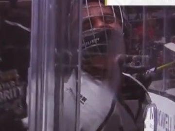Justin Bieber en un partido de la NHL