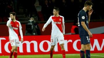 Bernardo Silva celebra un gol ante el PSG