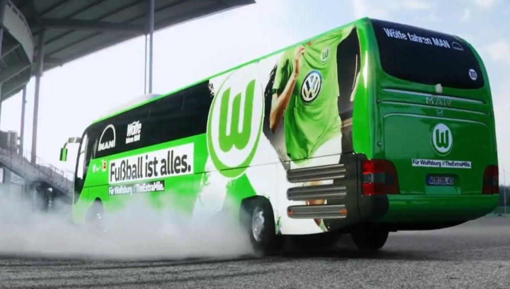 Trompo del autobús del Wolfsburgo