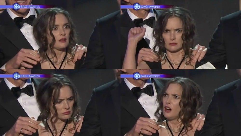 Las caras de Winona Ryder en los Premios SAG