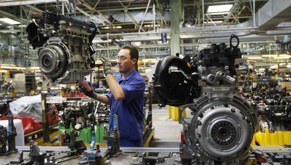 Trabajador en una fábrica
