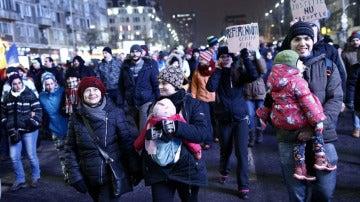 Protestas en Rumanía contra el Gobierno del país