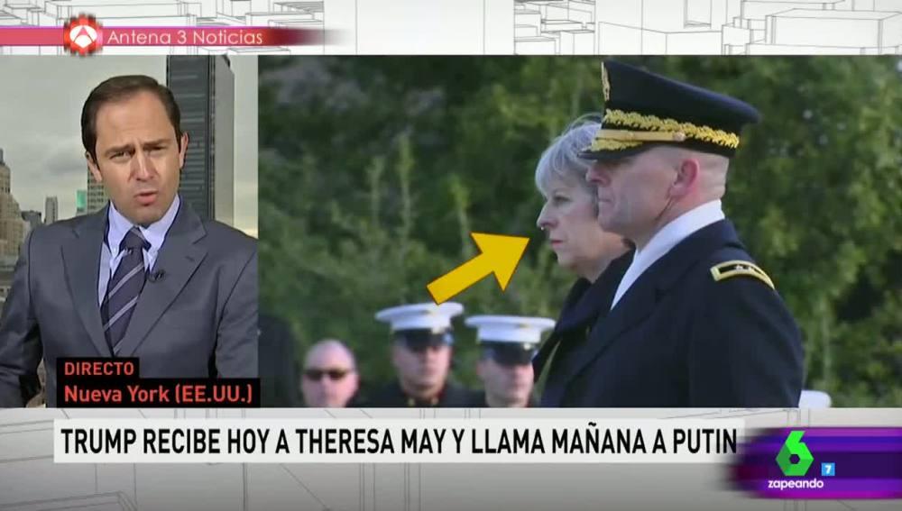 A la primera ministra británica se le cae un moco en la visita a EEUU