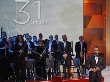 Dani Rovira durante la gala de los Premios Goya 2017