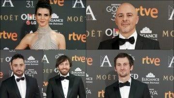 Algunos de los actores y directores que han asistido a los Premios Goya 2017