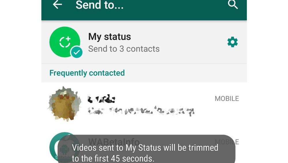 Apariencia de Status, de Whatsapp