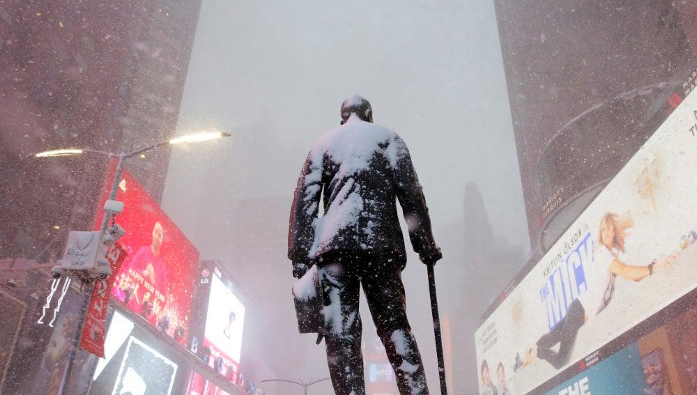 La estatua de George M. Cohan en Times Square
