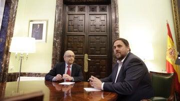 Cristóbal Montoro y Oriol Junqueras