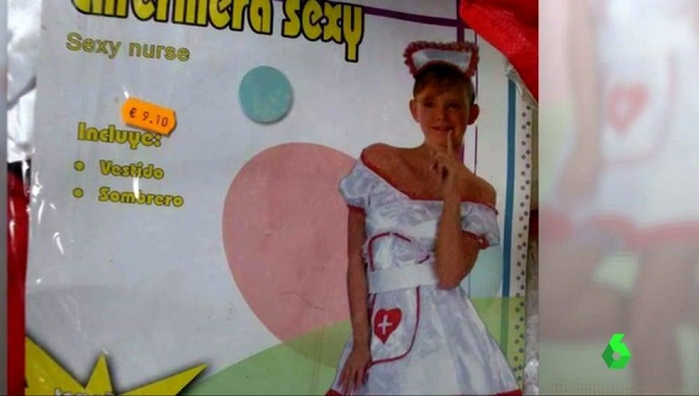 """Frame 2.895148 de: Indignación por los disfraces de carnaval de enfermera y bombera """"sexy"""" para niñas de cuatro años"""
