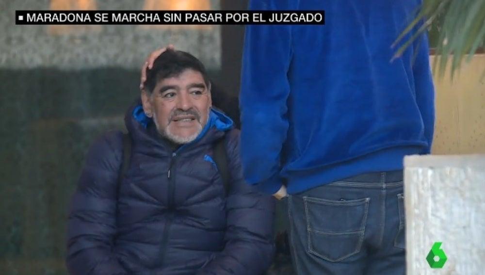 Maradona abandona Madrid sin declarar ante el juez